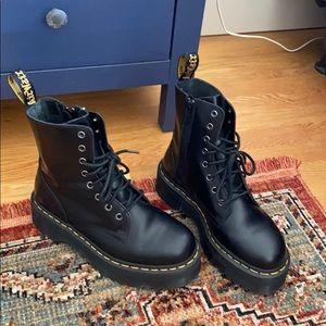 Dr. Martin Jadon Platform 8-Eye Boots- Black